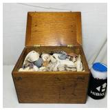 Old Wood Box full of Shells