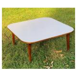 Nice Coffee Table, Wood w/White Laminate Top
