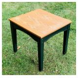 "End Table,Green Legs, Oak Top, 22"" x 20"" x 22"" h"