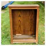 Oak Book Shelf, needs cleaned up, was in shed