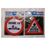 2 Metal Traffic Signs  NEW