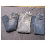 Lot of 3 Toddler Girl Jeans, Size 5T