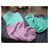 Knitted Mermaid Tail Childrens Blanket
