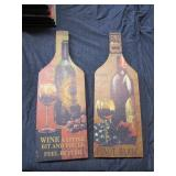 Set of 2 Wine Bottle Wall Decor