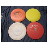 Lot of 4 Disc Golfs Varied Brands and Condition