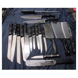 Huge lot of Black Handled Knives