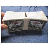 Ceramic Piggy Bank Dollar Notes