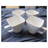 4 Porcelain Coffee Cups by Home
