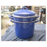 Pasta Pot w/ 1 Steamer, Strainer w/Lid