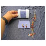 Avon Carnelian Color Charm Drop Giftset