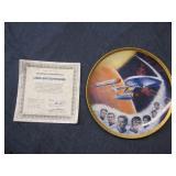 Star Trek USS Enterprise Plate with COA