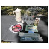 MIsc Lot w/ Glass and Cake Knife