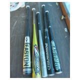Lot of 5 Baseball Bats