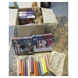 Party Candles, Assorted Colors and Scents