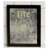 """Miller Lite Beer Mirror, 18"""" x 15"""""""