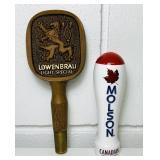 Molson, Lowenbrau Beer Tap Handles
