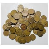 (92) Wheat Pennies, 1940-1949