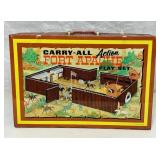 Fort Apache Play Set, Louis Marx, Metal carry