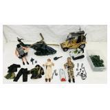 GI Joe / Military Figures and Vehicles, plus