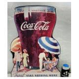 """Coke Cardboard Ad, """"Giant Glass"""" 26"""" x 18"""""""