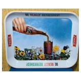 "1961Coke Advertising Tray, 10.5"" x 13"""