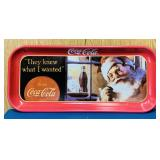 "1992 Coke Advertising Tray, 8.5"" x 19"""