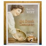 "Old Dutch Cleaner Tin Advertising Sign, 11"" x 14"""