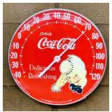 "1984 Coke 12"" Thermometer, Jumbo Dial"