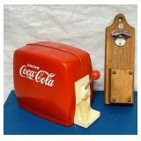 Coke Pop Dispenser, Bottle Cap Opener, both Nice