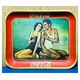 "1980 Coke Advertising Tray, 11"" x 13"""
