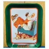 "1989 Coke Advertising Tray, 11"" x 13"""