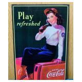 "1998 Coke Advertising Tin Sign, 12"" x 17"""