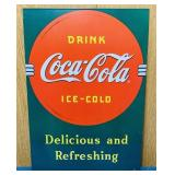 "1989 Coke Advertising Tin Sign, 12"" x 17"""