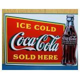"Coke Advertising Tin Sign, 12"" x 17"""