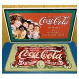 (2) Coke Advertising Tin Signs