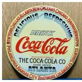 "1999 Coke Advertising Tin Sign, Embossed, 12"""