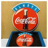 (2) Cardboard Coke Advertising Signs