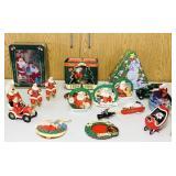 Coke Christmas Lot, Ornaments, Tins