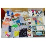 Lot of Craft Supplies, lots of Beads, Ribbon etc