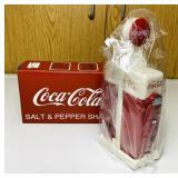 NOS Coke Salt and Pepper Shakers, plastic