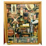 "Coke Framed Puzzle, Oak Frame, 35"" x 43"""