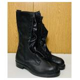 "NOS Leather Linesman Boots, Size 14c, 16"" high,"