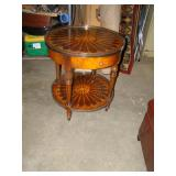 LAMP TABLE W/INLAID