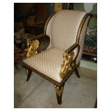ARM CHAIR W/GRIFFINS
