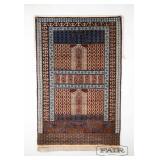 Rare, Beautiful Antique Pakistani Prayer Rug