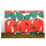 Large stretched tapestry of apples from Finland