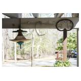 Decorative metal key and light fixture