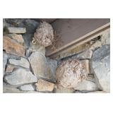 Pair of Found Hornets Nests- found art