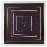 Framed Quilt Art Of Purples and Brown