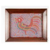 Framed Panamanian Mola Rooster